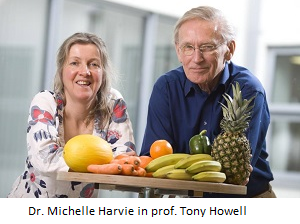 Dr. Michelle Harvie in prof. Tony Howell 1